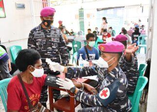 Lagi, Korps Marinir Rangkul Puskesmas Remu Gelar Serbuan Vaksinasi Untuk Masyarakat Kota Sorong 24 IMG 20210814 WA0111