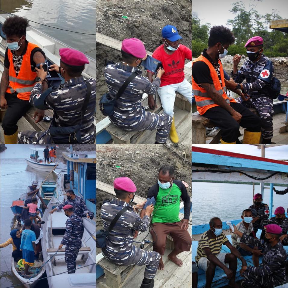 Sukseskan Serbuan Vaksinasi, Korps Marinir TNI AL Jemput Bola ke Kapal Nelayan Desa Arar Mayamuk 4 IMG 20210821 1