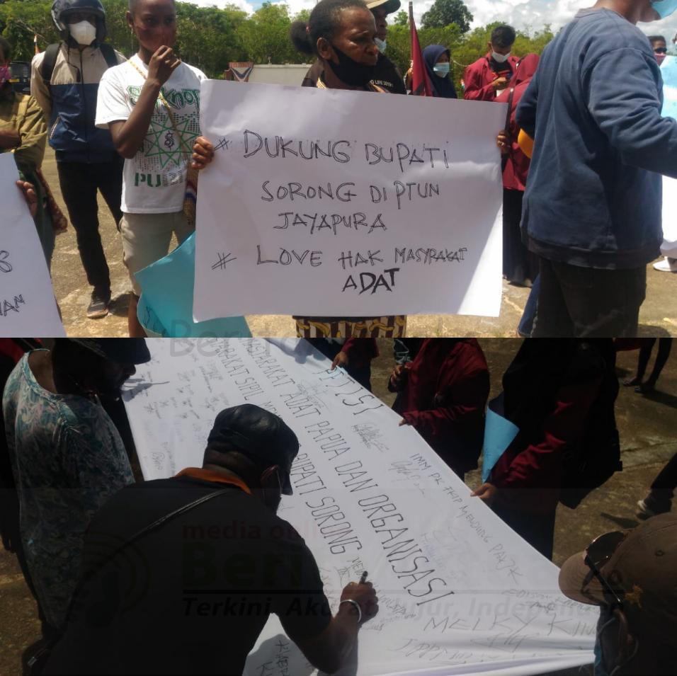 Bupati Sorong Digugat, Masyarakat Kab. Sorong Gelar Orasi Beri Dukungan Petisi 4 IMG 20210824 1