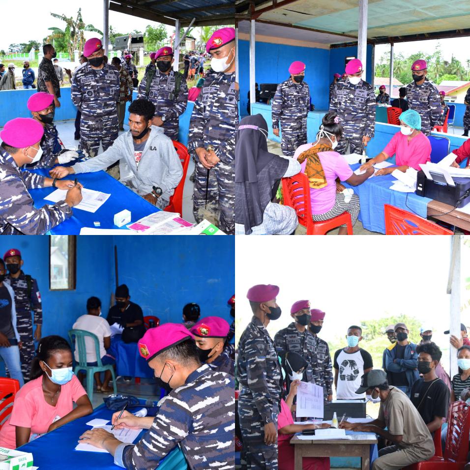 Kerahkan Material Tempur, Korps Marinir Serbu Kampung Klafdalim Moisegen Sorong 5 IMG 20210826 1
