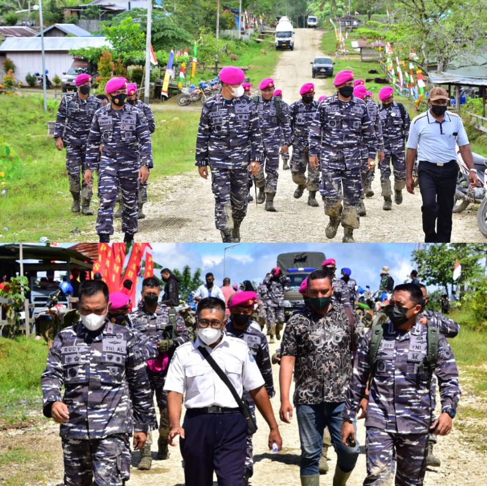 Kerahkan Material Tempur, Korps Marinir Serbu Kampung Klafdalim Moisegen Sorong 4 IMG 20210826 2