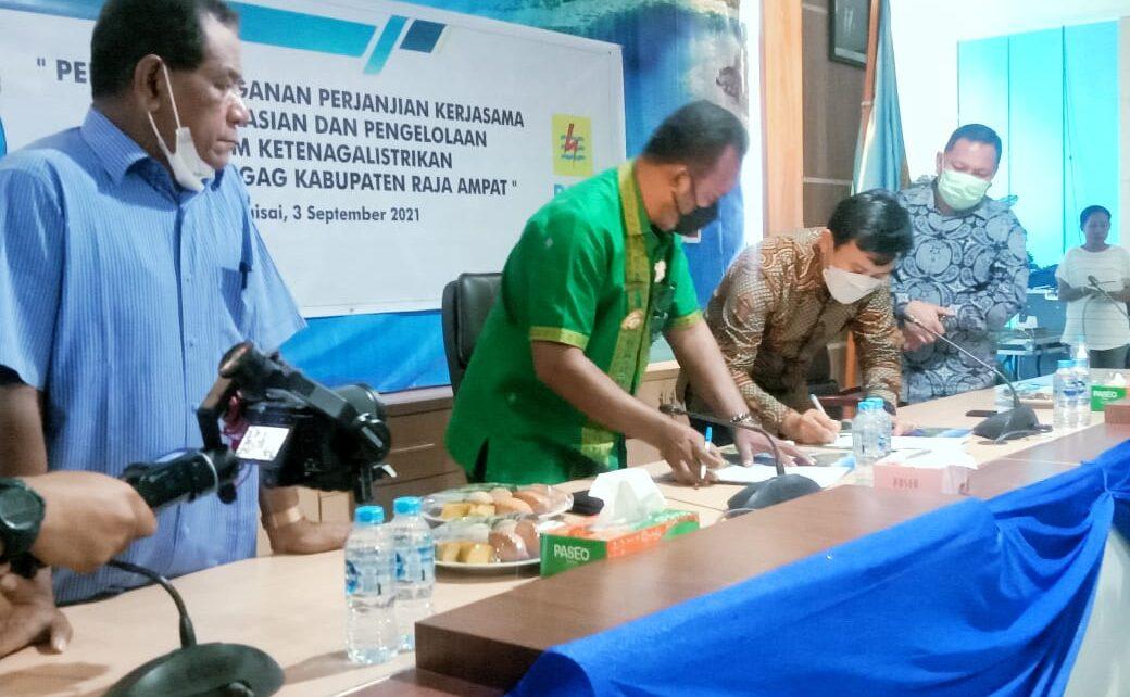 Wujudkan Bahari Terang, Pemda R4 Bersama PLN Dan PT GAG Nikel Teken Kerjasama 1 IMG 20210903 WA0053