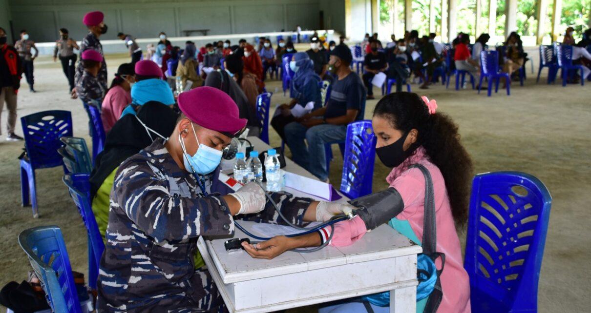 Vaksin Massal Nasional, Pasmar 3 Korps Marinir Sasar Hingga Kampus Unimuda Sorong 1 IMG 20210907 WA0054