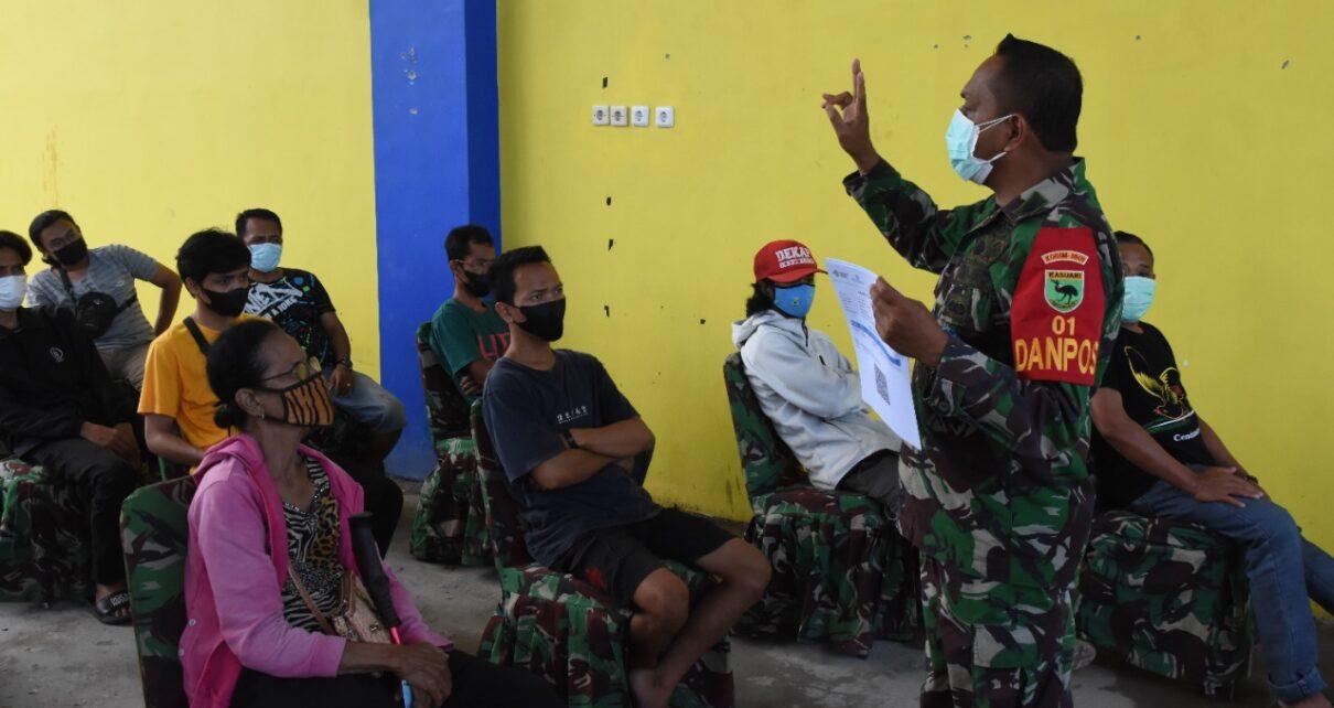 Kodam XVIII Kasuari Kembali Gelar Serbuan Vaksinasi Bagi Masyarakat Manokwari 1 IMG 20210910 WA0013
