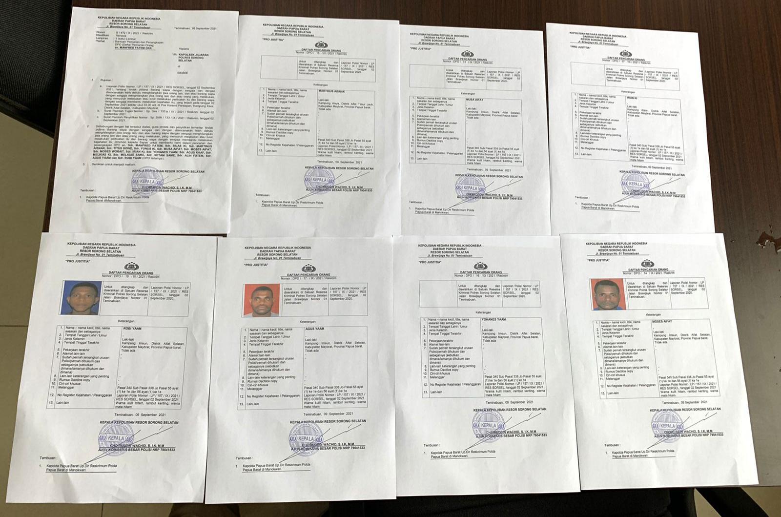 Polda Papua Barat Rilis 17 DPO Kasus Penyerangan Posramil Kisor Maybrat 4 IMG 20210910 WA0041