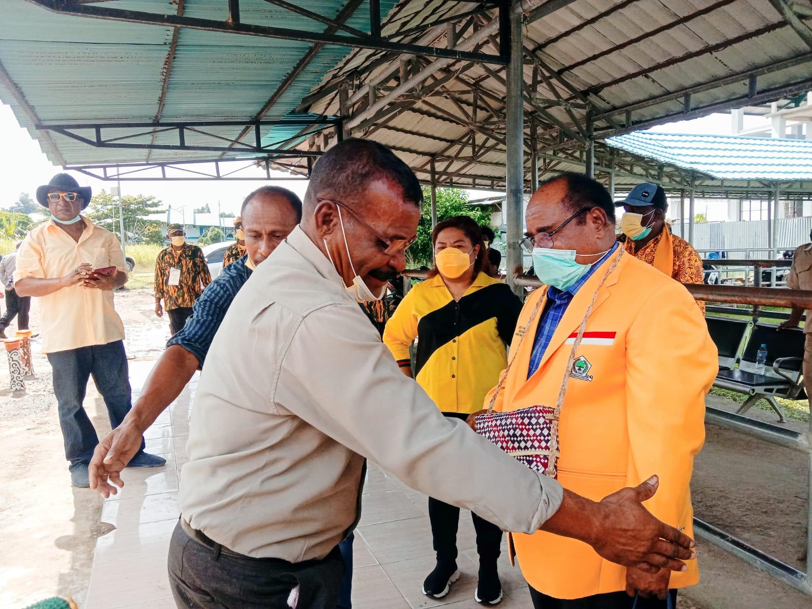 Dimeriahkan Tarian Tifa, Pengurus DPD Golkar Raja Ampat Sambut Lambert Jitmau 4 IMG 20210914 WA0032