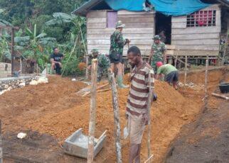 Pra TMMD ke 112 di Kampung Wendi Kabupaten Sorong Selatan Mulai Dikerjakan 14 IMG 20210914 WA0054