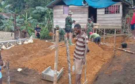 Pra TMMD ke 112 di Kampung Wendi Kabupaten Sorong Selatan Mulai Dikerjakan 7 IMG 20210914 WA0054