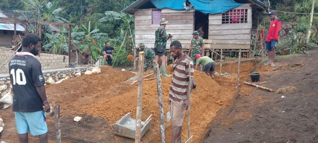 Pra TMMD ke 112 di Kampung Wendi Kabupaten Sorong Selatan Mulai Dikerjakan 1 IMG 20210914 WA0054