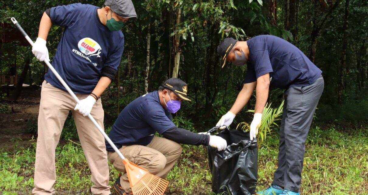 BBKSDA PB Bersama Mitra Bersihkan Taman Wisata Alam Sorong, 90 Karung Sampah Dikumpulkan 1 IMG 20210918 WA0063