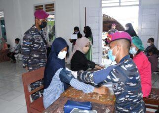 Ratusan Pelajar Kabupaten Sorong Serbu Posko Vaksinasi Maritim Korps Marinir TNI AL 26 IMG 20210922 WA0082