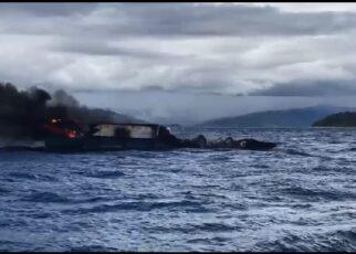 Kapal Nelayan Terbakar di Perairan R4, 1 Orang Alami Luka Bakar Serius 18 IMG 20210923 WA0079