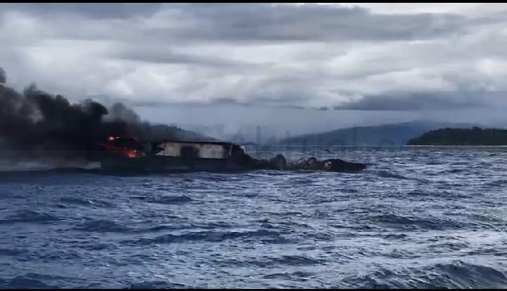 Kapal Nelayan Terbakar di Perairan R4, 1 Orang Alami Luka Bakar Serius 1 IMG 20210923 WA0079