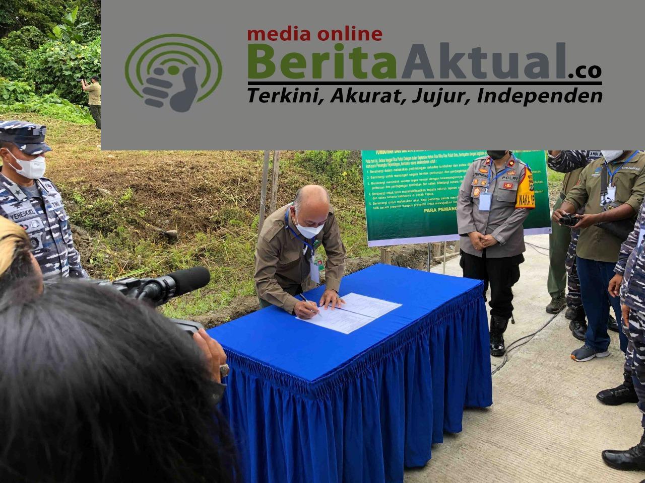 Jaga Alam, BBKSDA Gandeng Koarmada 3 Dan Stakeholder Lepas 37 Satwa Endemik di Hutan Katapop 7 IMG 20210928 WA0054