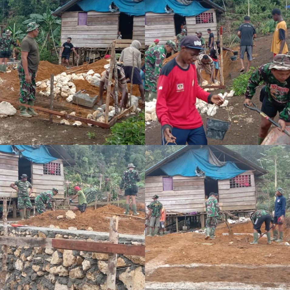 Pra TMMD ke 112 di Kampung Wendi Kabupaten Sorong Selatan Mulai Dikerjakan 4 IMG 20210914 2