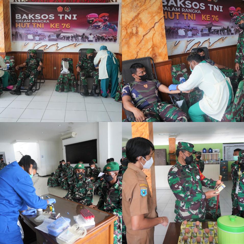 Jelang HUT TNI ke 76, Kodam XVIII/Kasuari Gelar Donor Darah 2 IMG 20210921 4