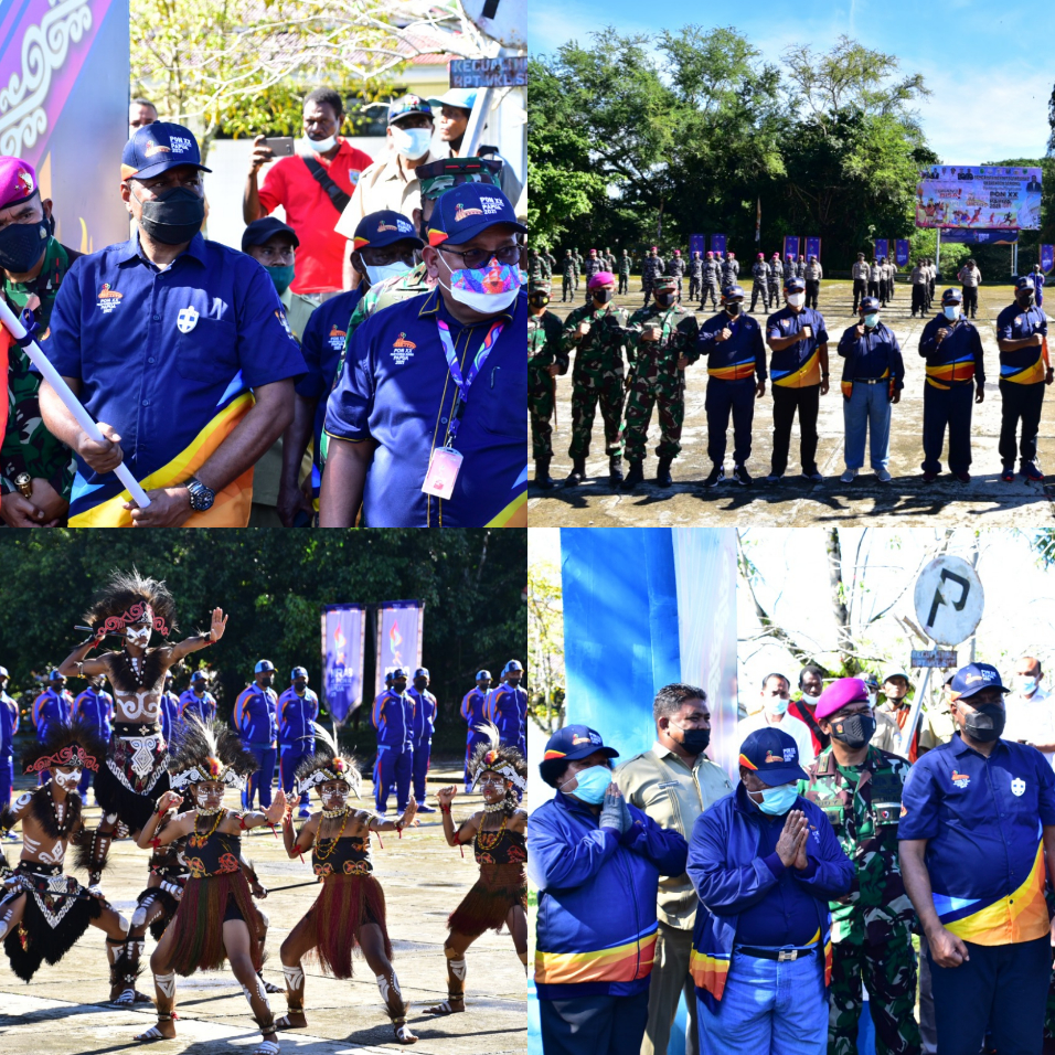 Komandan Pasmar 3 Ikuti Pelepasan Kirab API PON XX Papua 5 IMG 20210927 1
