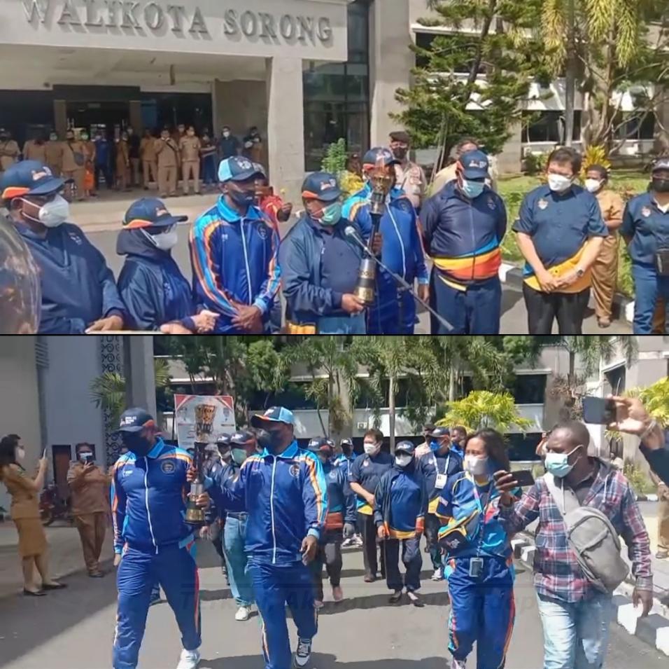 Dari Sorong Papua Barat, Obor PON XX Diberangkatkan Menuju Papua 5 IMG 20210927 3