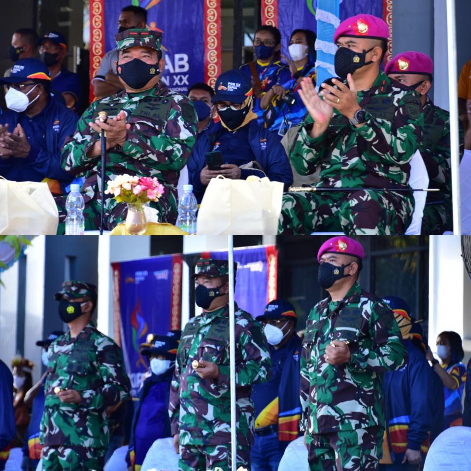 Komandan Pasmar 3 Ikuti Pelepasan Kirab API PON XX Papua 4 IMG 20210927 4