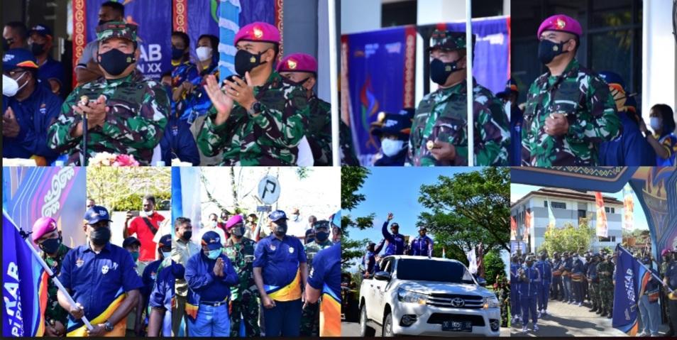 Komandan Pasmar 3 Ikuti Pelepasan Kirab API PON XX Papua 3 Screenshot 20210927 201152 Photo Wonder