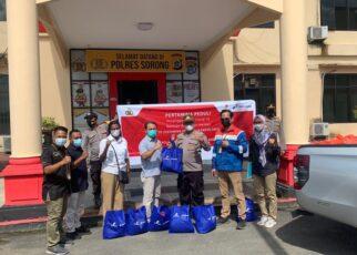 SKK Migas KKKS Pertamina EP Zona 14 Papua Field Salurkan 200 Paket Bama Untuk Masyarakat Melalui Polres Kab. Sorong 21 IMG 20211020 WA0068